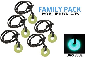 Family Pack - UVO Blue Necklaces (5 qty)